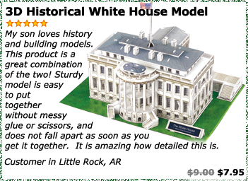 3D Historical White House Model