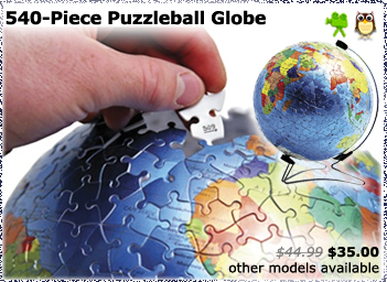 540 Piece Metallic Puzzleball Globe