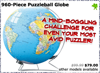 960 Piece Puzzleball globe