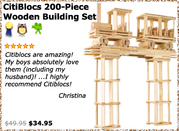 CitiBlocs 200 Piece Wooden Building Set