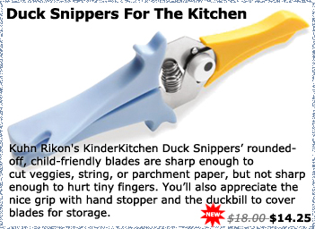 Kuhn Rikon's KinderKitchen Duck Snippers