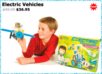 Electric Vehicles Wind Up Energy Kit