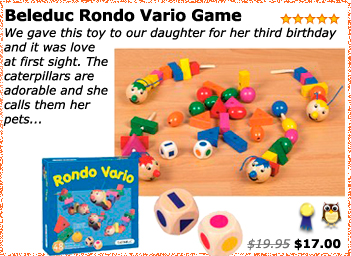 Beleduc Rondo Vario Game by Hape