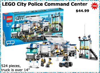 LEGO City Police Command Center Truck
