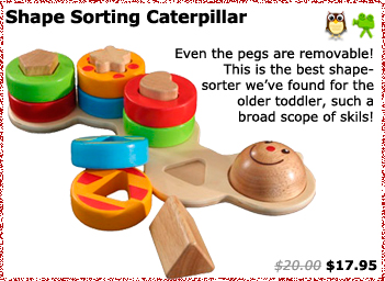 Shape Sorting Caterpillar